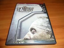 Saw IV (DVD, 2008, Widescreen - Unrated Director's Cut) Used 4 Tobin Bell