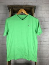 Tommy Hilfiger Boys V-neck T-shirt Solid Green Size Large L 16/18 Nwt