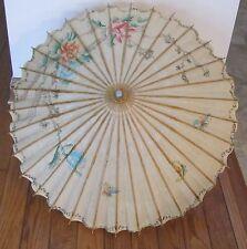 Vintage Chinese Umbrella Parasol Floral Pattern
