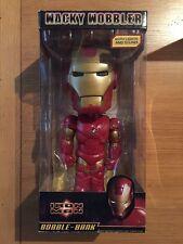 "Funko Iron Man 12"" Wacky Wobbler Bobble-Bank With Lights & Sound MIB, Nice!!"