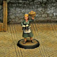 Otherworld Minis D&D NPC Miniature - SERVING WENCH II  (AWESOME FIGURE and NEW!)