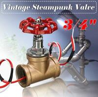 Vintage Steampunk 3/4'' Stop Valve Light Switch Wire Water Pipe Lamps Pass Thru