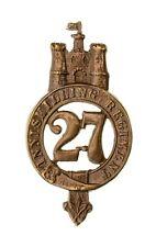 More details for 27th inniskilling regiment glengarry badge brass metal