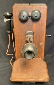 Western Electric 329W Antique Crank Wall Phone With Ear Piece Early 1900's Nice!