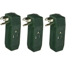 3 OUTLET 3 WAY 3-PRONG WALL TAP PLUG ADAPTER UL GROUNDED AC POWER SOCKET