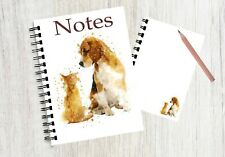 Notebook  with an image of a cute puppy and kitten No 5 By Starprint G & D