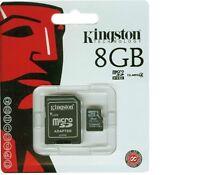 Kingston SDC10G2/8GB Scheda MicroSD 8 GB,Classe 4,UHS-I, 45 MB/s + ADATTATORE
