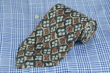 Robert Talbott Studio Hombre Corbata Gris Azul & Granate Geomtric Estampado