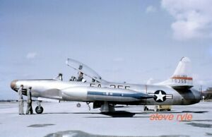 MILITARY AIRCRAFT SLIDE - F-94B STARFIRE USAF 51-5355 - 1952 - DUPLICATE