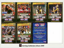 2001 Teamcoach Trading Cards Promotion Team Set Richmond (7 )