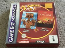 2 Games In 1 Brother Bear + The Lion King (Nintendo Game Boy Advance, 2003)Boxed