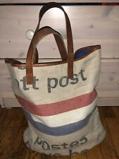Dutch Post Bag Handmade in Switzerland Canvas and Leather Tote