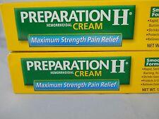 PREPARATION H MAXIMUM STRENGTH PAIN RELIEF CREAM ( 2PK BUNDLE 1.8OZ EACH )
