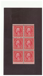US SC.634d 1926-34 .02 WASHINGTON BOOKLET PANE MH WPG6