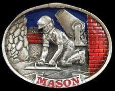 MASON CEMENT BRICK LAYER CONSTRUCTION WORKER BELT BUCKLE BOUCLE DE CEINTURES