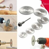7PC/set Circular Saw Disc Tools Set Mini Drill Rotary Tool Wood Cutting Blade