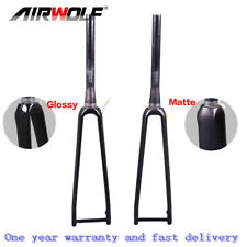 AIRWOLF Carbon Road Fork Disc 700c Rigid Bike Forks 1-1/8 To 1-1/2 100*12mm