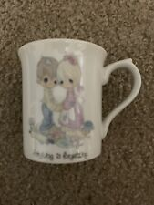 Precious Moments Forgiving Is Forgetting Coffee Mug 1984 Enesco Jonathan & David