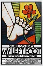 MY LEFT FOOT (89) ORIGINAL INTERNATIONAL MOVIE POSTER  -  ARTWORK STYLE