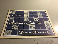 1984-85 Indiana University Activities Calendar