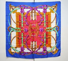 Hermes Hermès Grand Manege Scarf Silk Twill Foulard Sciarpa Auth With Care Tag