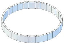 Isolationsschutz 120 cm hoch für Pool rund 460 x 132 cm Druckschutz Wärmeschutz