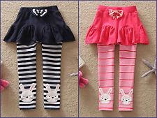 Cartoon rabbit cute girls cute 100% cotton skirt with leggings(18 Months-6Years)