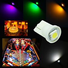50x #555 T10 1 SMD 5050 LED Pinball Machine Light Bulb Blue AC/ DC 6.3V P2