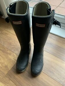 Hunter Balmoral Equestrian Adjustable Wellington Boots Size 7 EU 40 41