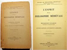 GILSON/L ESPRIT DE LA PHILOSOPHIE MEDIEVALE/LIBRAIRIE VRIN/1948