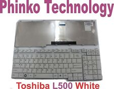Toshiba L500 L500D L505 P300 A500 A505 F750 Keyboard US Layout with Frame White