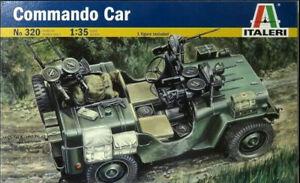 ITALERI 1:35 KIT AUTO MILITARE COMMANDO CAR CON 1 FIGURA LUNGHEZZA 9,5 CM    320