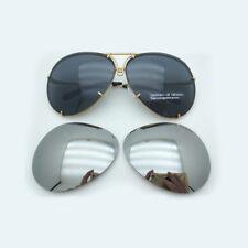 New Authentic PORSCHE DESIGN P8478 Gold Frame Gray/Silver Lens Sunglasses 69 MM