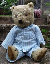Vintage Jointed Teddy Bear in Pyjamas