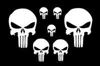 7x The Punisher Totenkopf Aufkleber Sticker AUTO Heckscheibe Tuning Motorhaube 1