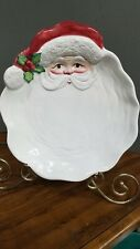 Fitz & Floyd Santa Canape Appetizer Decoration Collectors Plate Ceramic 1989