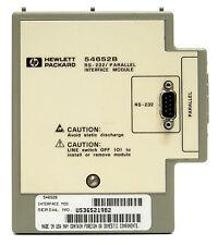 HP Agilent 54652B RS232 / Parallel Interface per 54600 oscilloscope 54600B