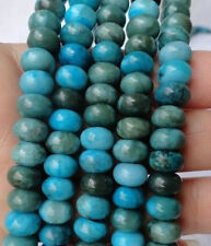 Superb New!!!5x8mm Blue Crazy Lace Agate Round Gemstone Abacus Loose Beads 15''