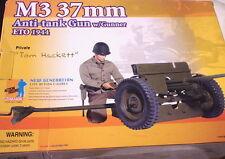 "DRAGON 1/6 M3 37MM ANTI-TANK GUN WITH GUNNER ""TOM HACKETT"" ETO 1944 #70680"