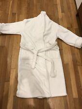 NAUTICA WOMEN White Robe Dressing Gown FLEECE SIZE L /XL