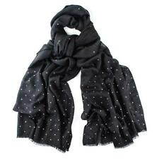 100 %Cashmere Crystal Diamond Scattered Scarf RRP GBP160! Now only GBP 89!BLACK
