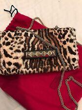 Valentino Rockstud Vavavoom Handbag  Leopard Print Clutch
