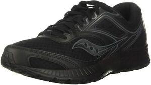 Saucony Women's VERSAFOAM Cohesion 12 Road Running Shoe, Black, 8.5 B(M) US