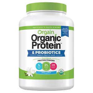 Orgain USDA Organic Plant Protein Powder, 2.74-pounds - Vanila Bean