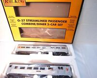 MTH Rail King 30-6073 Pennsylvania Streamlined Lighted Combo/Diner Set-New w Box