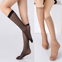Ladies Sheer Knee High Everyday Stocking Breathable Elastic Silk Socks Hosiery