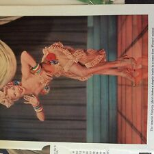 A1c ephemera 1950s  film  article virginia mayo painting the clouds with sunshin