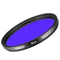 Neewer 52MM Full Blue Lens Filter for Nikon D3300 D3200 D3100 D3000 D5300 D5200