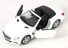 Blitz envío mercedes sl 500 convertible 2012 blanco white Welly modelo auto 1:34 nuevo