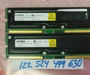 512MB KIT  = 2X 256MB   RAMBUS 800-45 800 45  184PIN RIMM  ECC  NON-REGISTER
